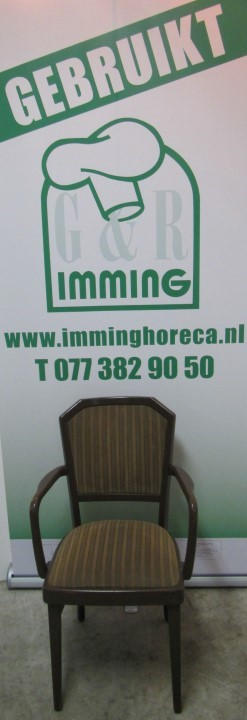 Spahn bruine stoel met armleuningen