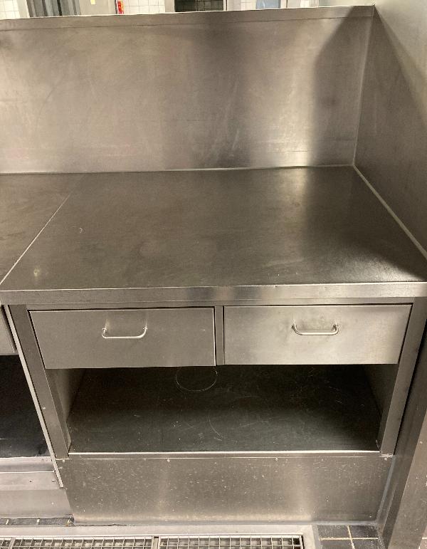 RVS-werktafel-met-2-laden